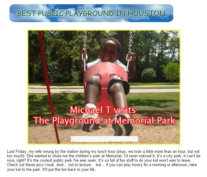 Michael Berry's son visits the Playground Without Limits