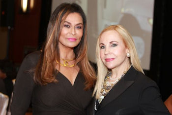 Tina Knowles and Carolyn Farb